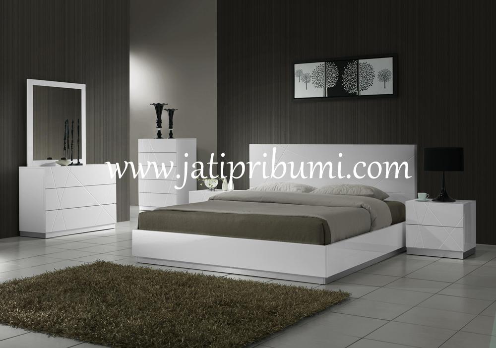 set tempat tidur minimalis naples jati pribumi