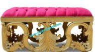 Sofa Ukir Bench Gold