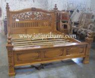 Tempat Tidur Ukir Jati Rahwana