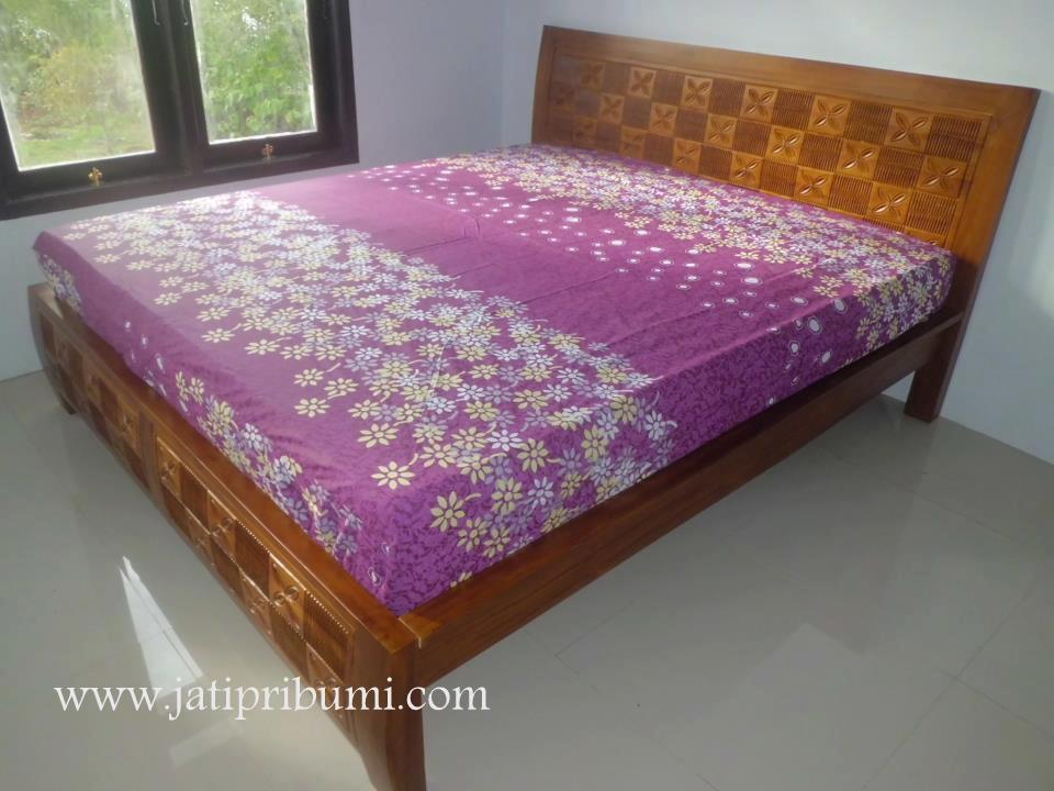 tempat tidur minimalis jati harga murah jati pribumi