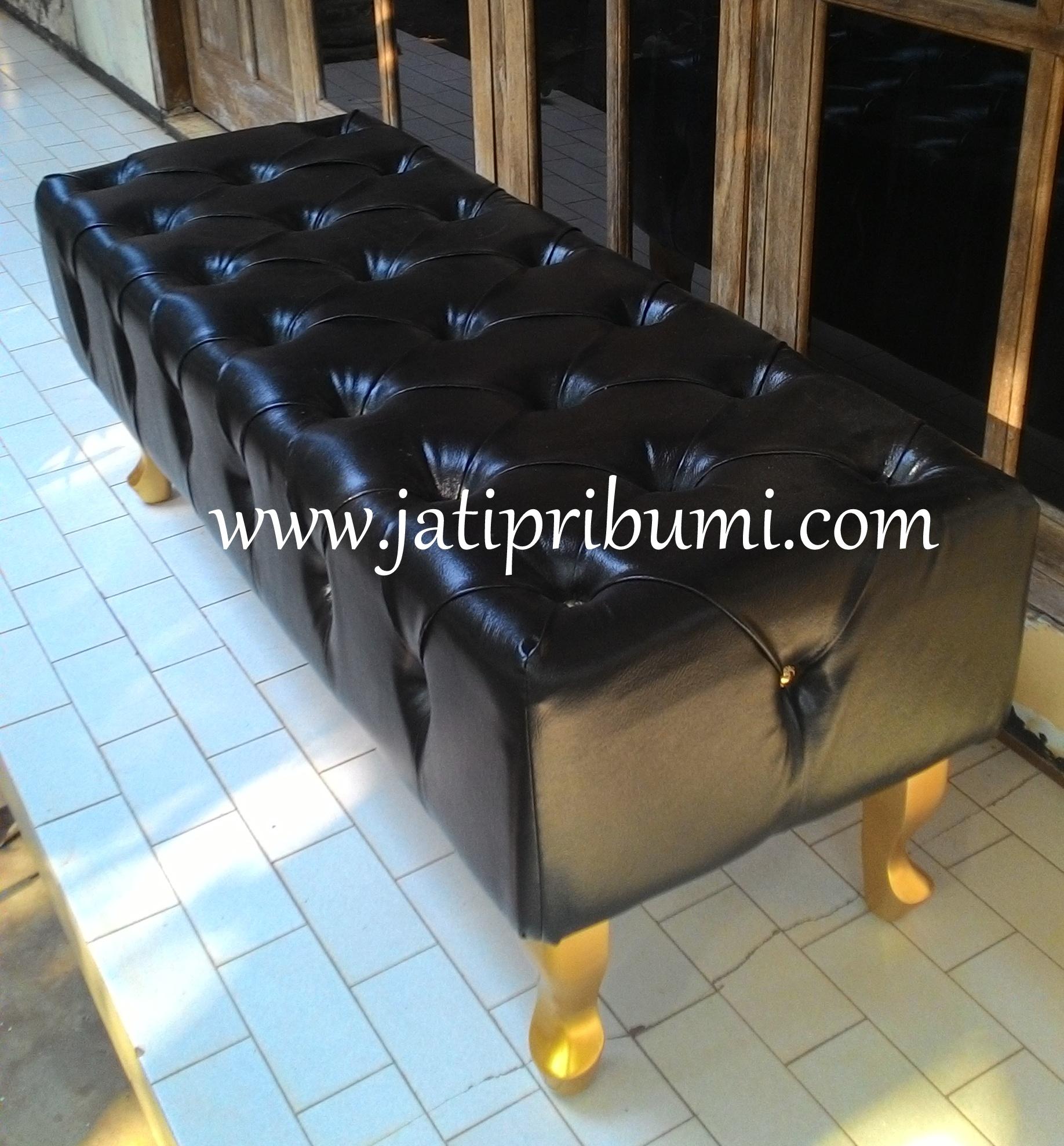 sofa stool tempat tidur jati pribumi