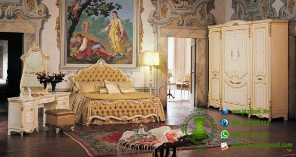 kamar set mewah warna putih cream model terbaru harga murah berkualitas