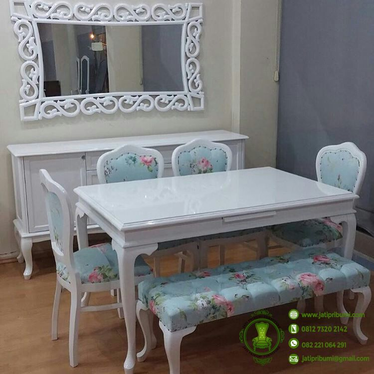 meja makan shabby chic terbaru jati pribumi. Black Bedroom Furniture Sets. Home Design Ideas