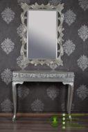 Meja Cermin Klasik Silver Model Ukiran