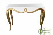 Meja Konsul Warna Emas dan Putih