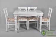 Meja Makan Minimalis Kursi 4 Warna Putih