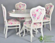 Meja Makan Oval Minimalis Putih
