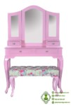 Meja Rias Warna Pink Minimalis