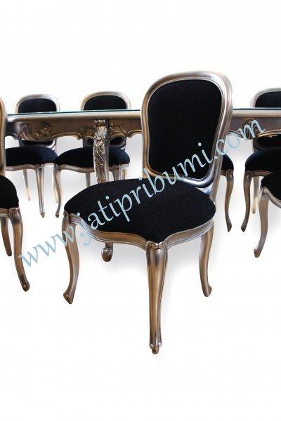 meja makan keluarga besar 10 set kursi 1