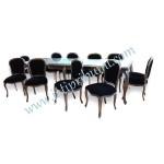Meja Makan Keluarga Besar 10 Kursi set