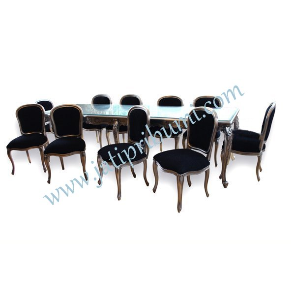 meja makan keluarga besar 10 set kursi