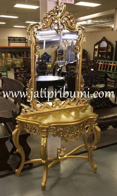 meja konsul dan cermin ukiran jepara model terbaru harga murah dan berkualitas