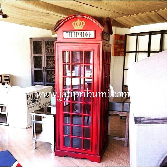 lemari box telephone london harga murah model dan desain terbaru produk furniture mebel jepara