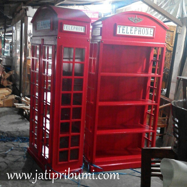 lemari rak box telephone