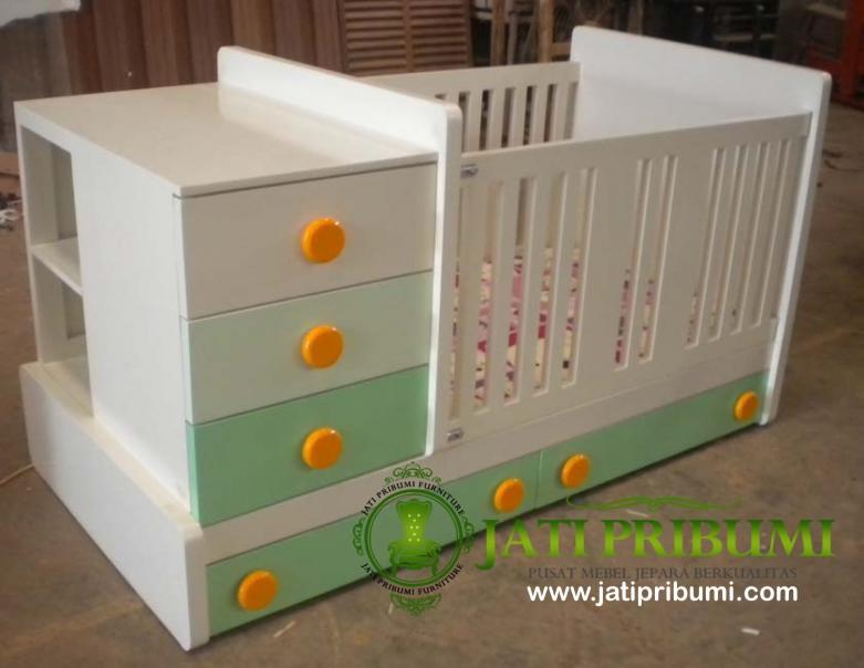 tempat tidur bayi laci model terbaru