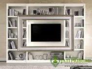Tempat TV LED Rak Buku Minimalis