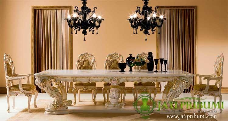 meja makan luxury minerva ukiran jepara
