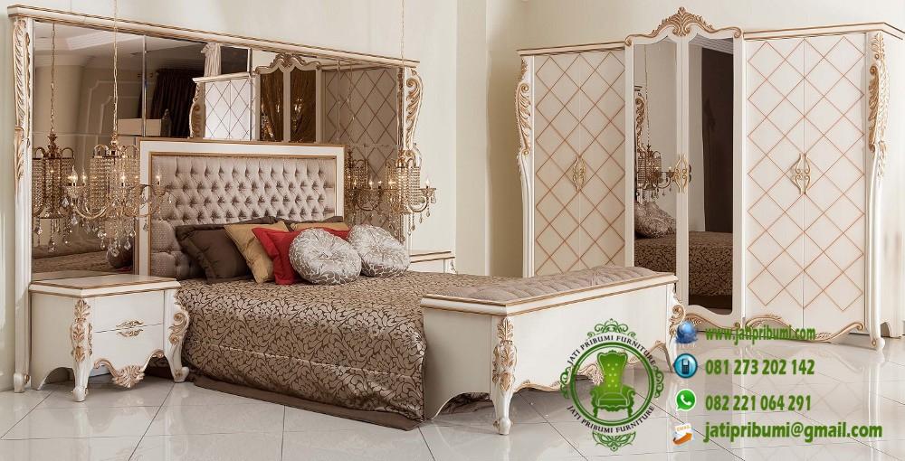 set tempat tidur klasik model terbaru desain mewah harga murah dan berkualitas