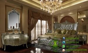 Set Tempat Tidur Ukiran Model Terbaru Silver Leaf