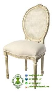 Kursi Rotan Model Oval Putih