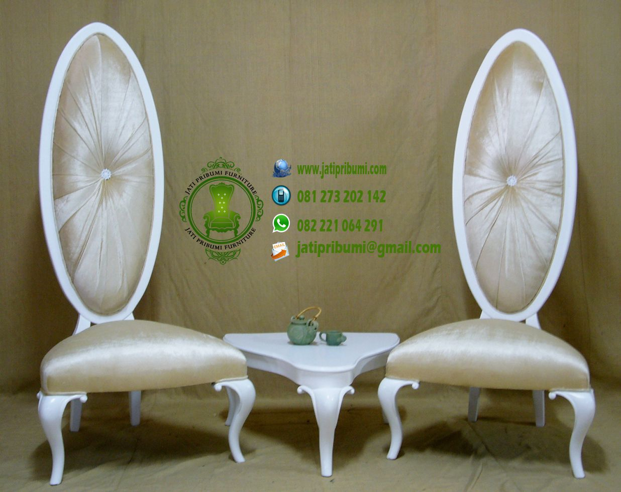 set kursi mewah sandaran tinggi oval (1)