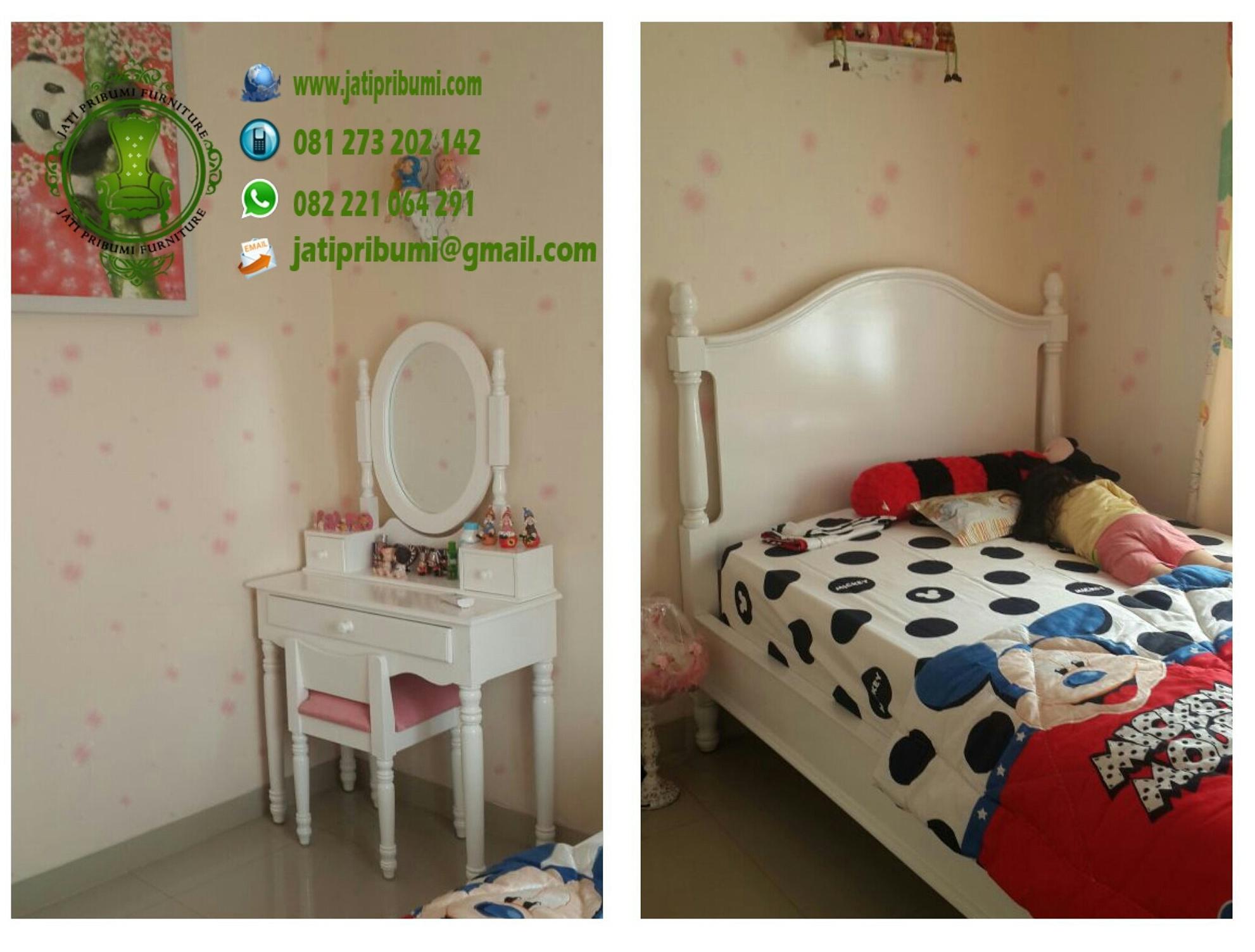 set tempat tidur anak model terbaru minimalis warna putih