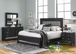 Set Tempat Tidur Minimalis Warna Hitam