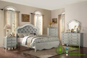 Set Tempat Tidur Minimalis Warna Silver