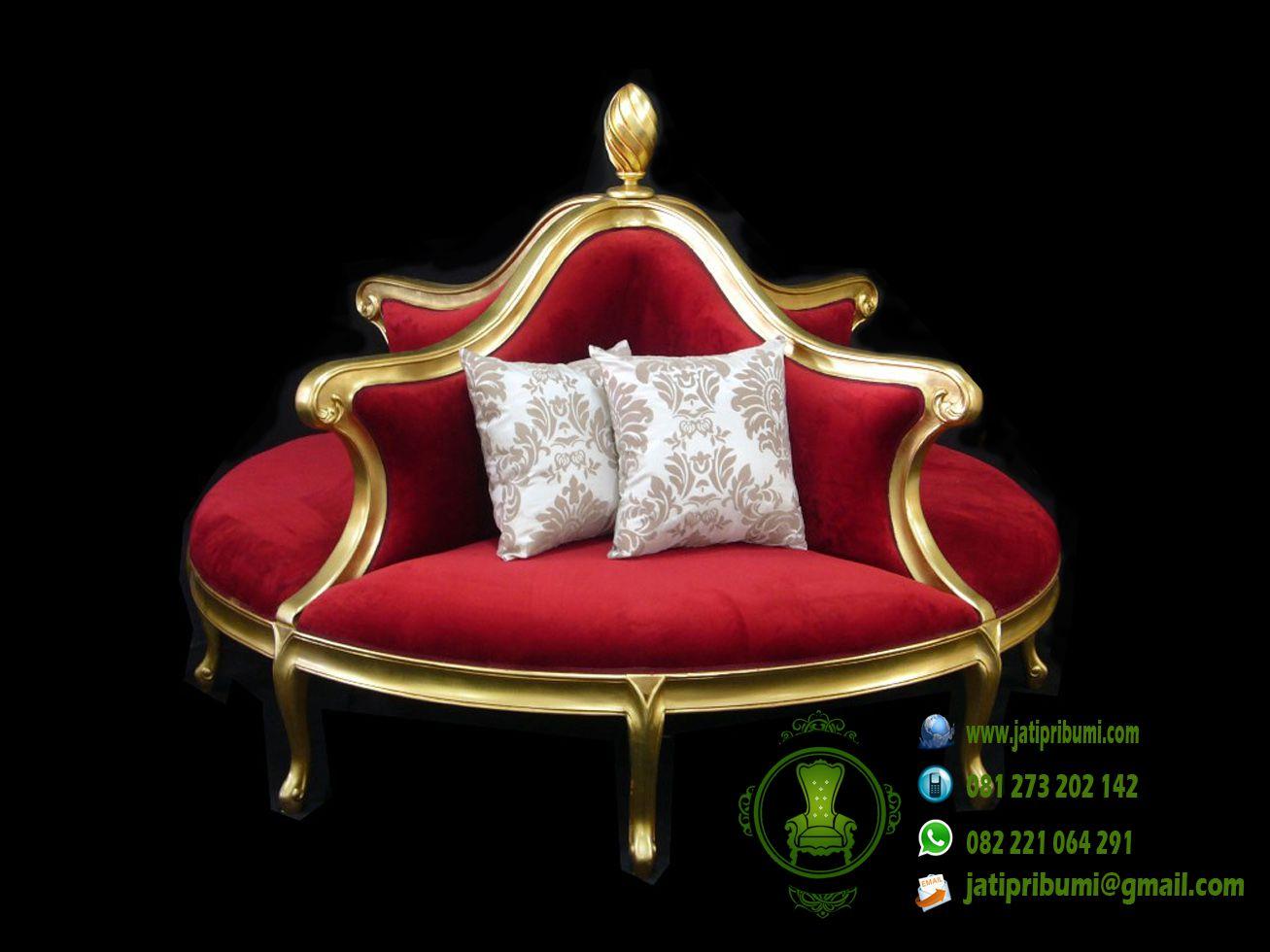 sofa bundar dudukan 4 ukiran jepara mewah model terbaru 2016