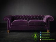 Sofa Chester Warna Ungu Model Terbaru