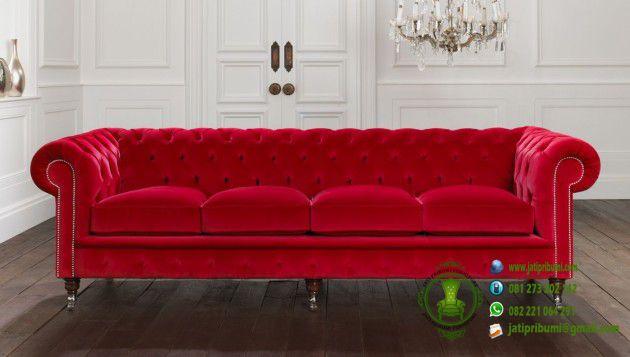 44 Kursi Sofa Minimalis Warna Merah Terbaru