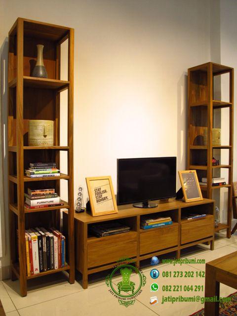 set-meja-tv-vintage-jati