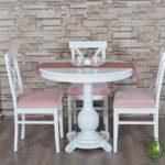 Meja Makan Bundar Minimalis Putih