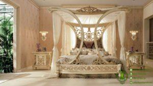 Kamar Set Tempat Tidur Kelambu Desain Victorian