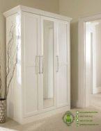 Lemari Baju Minimalis Pintu 3 Putih