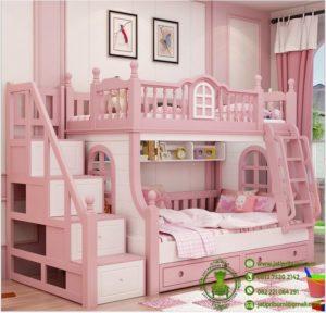 Harga Tempat Tidur Tingkat Pink