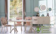 Meja Makan Minimalis 3 Kursi dan Bufet