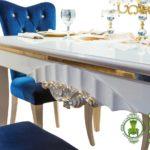 Meja Makan Minimalis Putih Gold