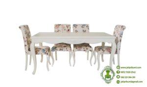 Meja Makan Shabby Putih 2019