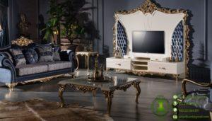 Set Meja TV Sofa Desain Klasik