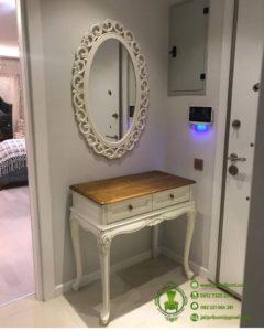Meja Konsul Putih Klasik