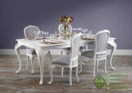 Meja Makan Klasik Warna Putih