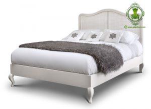 Tempat Tidur Jepara Terbaru Rotan Warna Putih