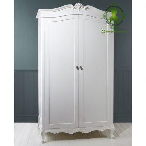 Lemari Pakaian Minimalis Klasik Warna Putih